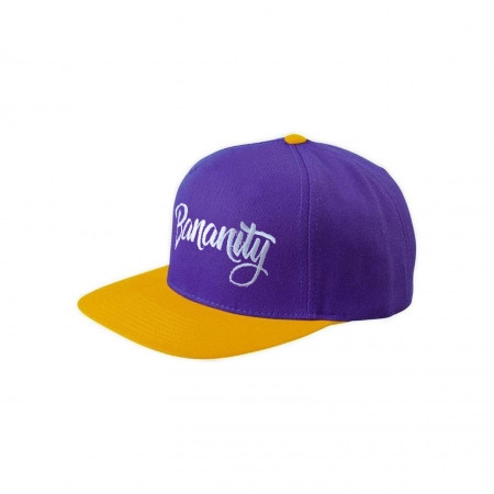 Purple flat cap