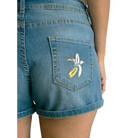 Short with embroidered banana